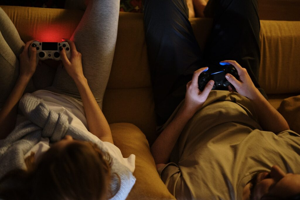 Couple Playing Games
